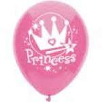 PRINCESS DARK PINK LATEX  BALLOON